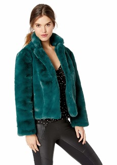 Keepsake The Label Women's Stay with ME Faux Fur Short Collared Coat  M