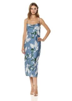 Keepsake The Label Women's This Moment Cowl Neck Sleeveless Slip Dress  XL
