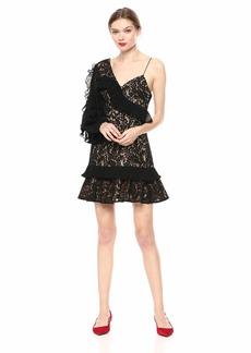 Keepsake The Label Women's Timeless Asymmetric Lace Mini Dress  M