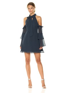 Keepsake The Label Women's Twilight Dreams Bow Cold Shoulder Mini Dress