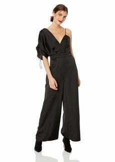 Keepsake The Label Women's Uncovered Silky Wide Leg Dressy Sleeveless Jumpsuit  L