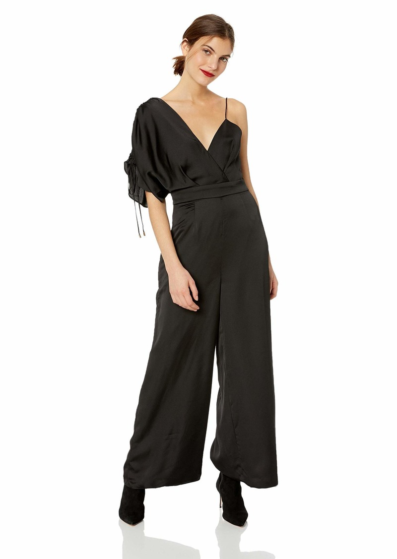 Keepsake The Label Women's Uncovered Silky Wide Leg Dressy Sleeveless Jumpsuit  L