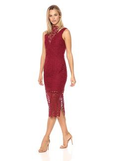 Keepsake The Label Women's Uplifted Lace Midi Dress Burnt red