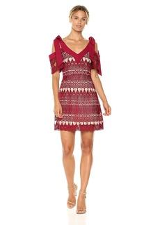 Keepsake The Label Women's Walk On by Lace Cold Shoulder Mini Dress