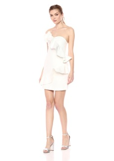 Keepsake The Label Women's WallFlower Strapless Ruffle Structured Mini Dress  M