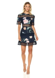 Keepsake The Label Women's Whispers Floral Print Fit and Flare Dress