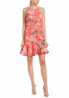 Keepsake The Label Women's Wild Thoughts Ruffle Hem Floral Mini Dress pop red S