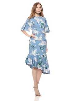 Keepsake The Label Women's Wild Thoughts Short Sleeve MIDI Dress  XL