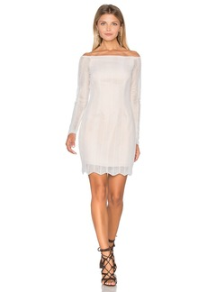 keepsake Think Twice Long Sleeve Lace Dress
