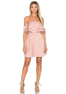keepsake Two Fold Mini Dress in Pink. - size L (also in M,S,XS)