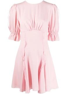 Keepsake ruched ruffle detail dress