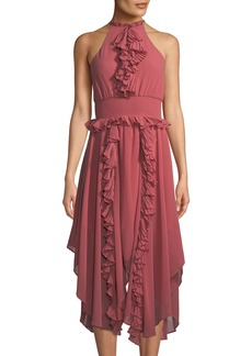 Keepsake Say Something Ruffle Chiffon A-line Dress