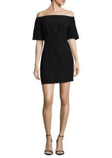 Keepsake Solid Off-The-Shoulder Dress