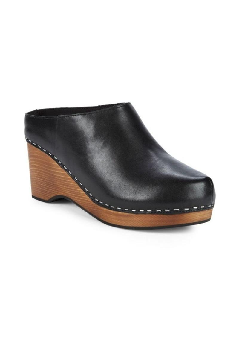 "Kelsi Dagger Joval Leather Wedge Clogs/2.5"""