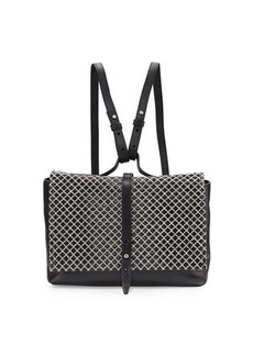 Kelsi Dagger Ainslie Mini Straw-Flap Leather Backpack