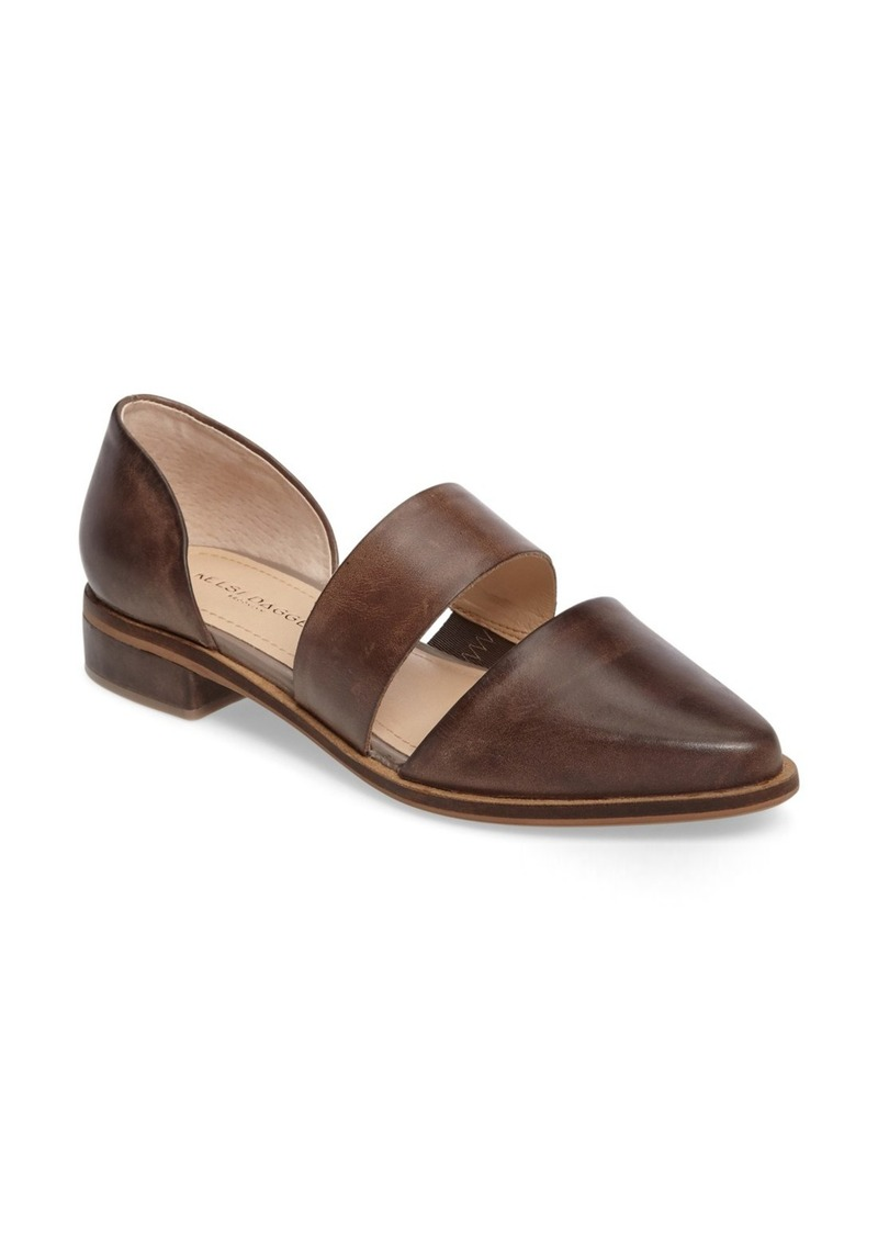 Kelsi Dagger Brooklyn Albany Pointy Toe Flat (Women)