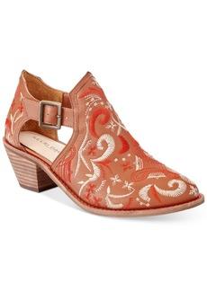 Kelsi Dagger Brooklyn Kline Embroidered Block-Heel Booties Women's Shoes