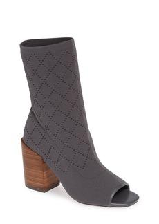 Kelsi Dagger Brooklyn Macey Knit Peep Toe Bootie (Women)