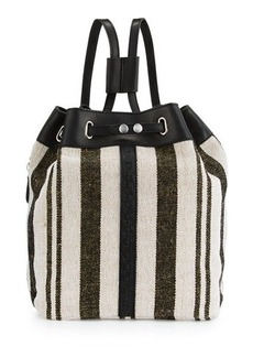 Kelsi Dagger Dusen Striped Canvas Drawstring Backpack
