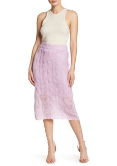 Kendall + Kylie Cable Knit Skirt