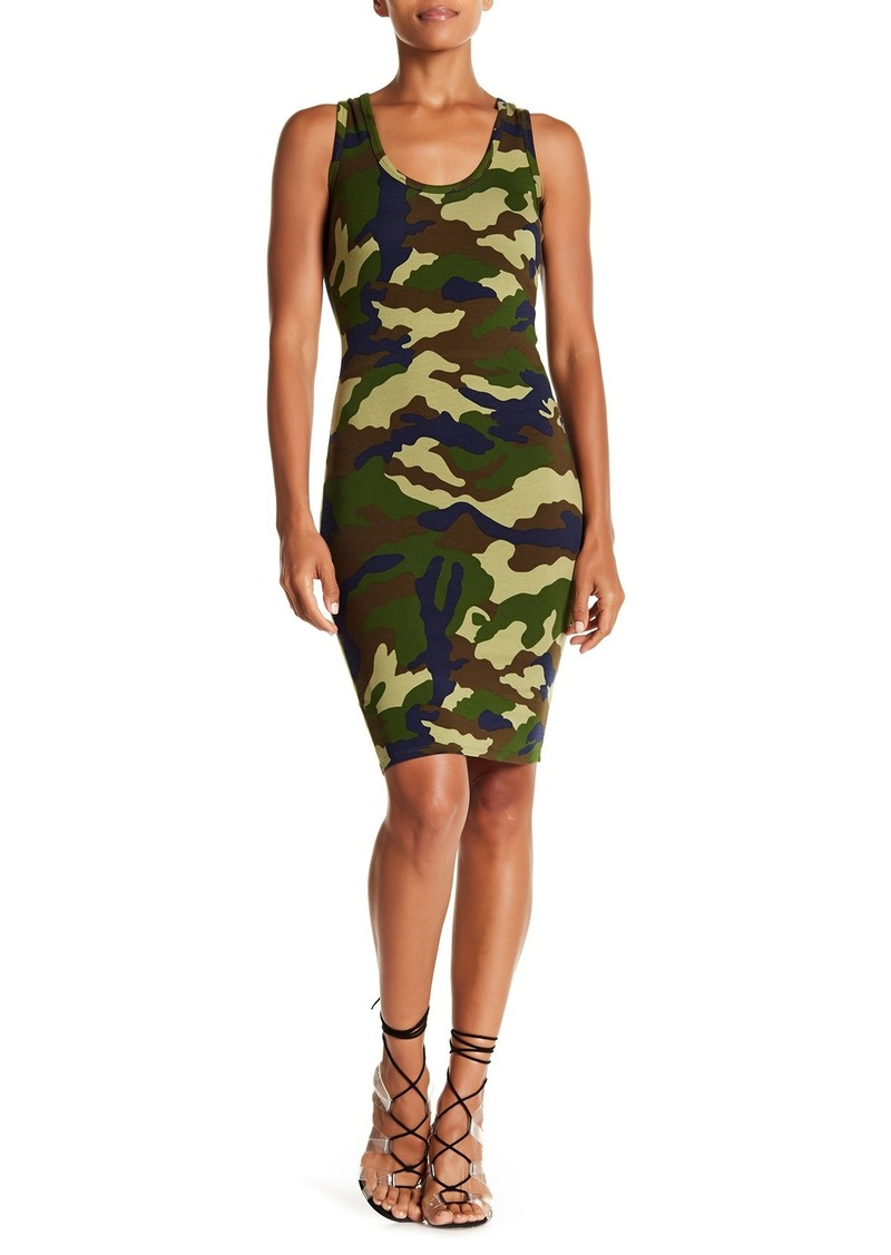 Kendall + Kylie Camo Printed Tank Dress
