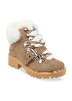 Kendall + Kylie Edison Faux Fur-Lined Suede Ankle Hiker Boots