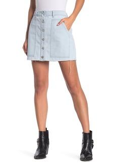 Kendall + Kylie Fashion Button Fly Denim Mini Skirt