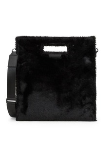 Kendall + Kylie Faux Fur-Trim Shoulder Bag