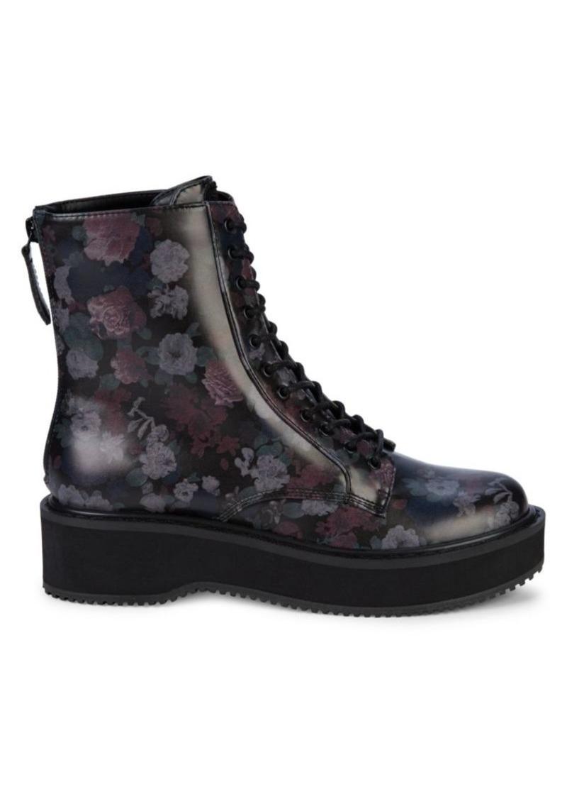 Kendall + Kylie Hunt Floral Platform Combat Boots