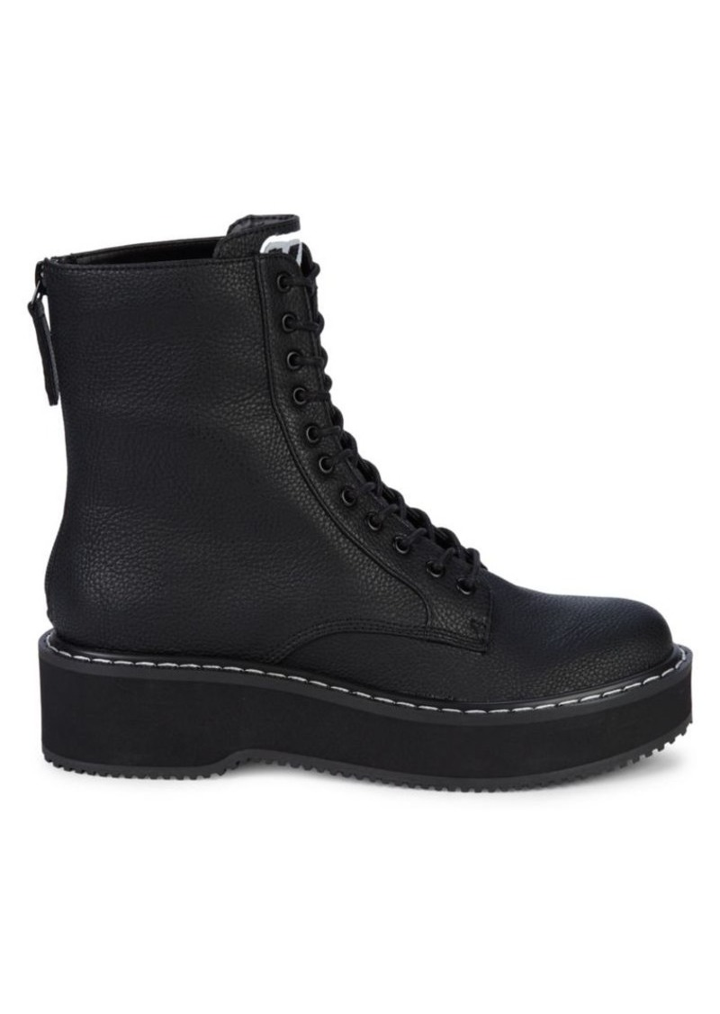 Kendall + Kylie Hunt Textured Combat Boots