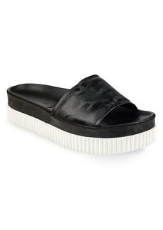 Kendall + Kylie Isla Leather Platform Slides