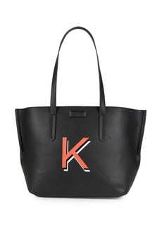 Kendall + Kylie Izzy Graphic Faux Leather Tote