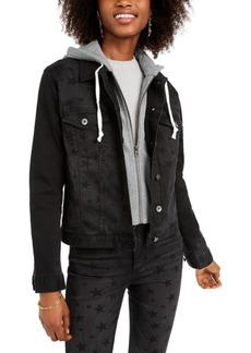 Kendall + Kylie Abbot Hooded Denim Jacket