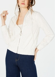 Kendall + Kylie Broderie Anglaise Jacket