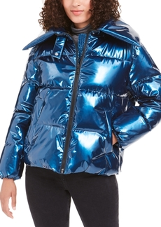 Kendall + Kylie Cropped Puffer Coat