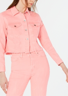 Kendall + Kylie Edgy Frayed Denim Jacket