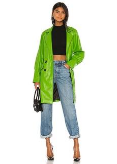 KENDALL + KYLIE Farrah Vegan Leather Trench Coat