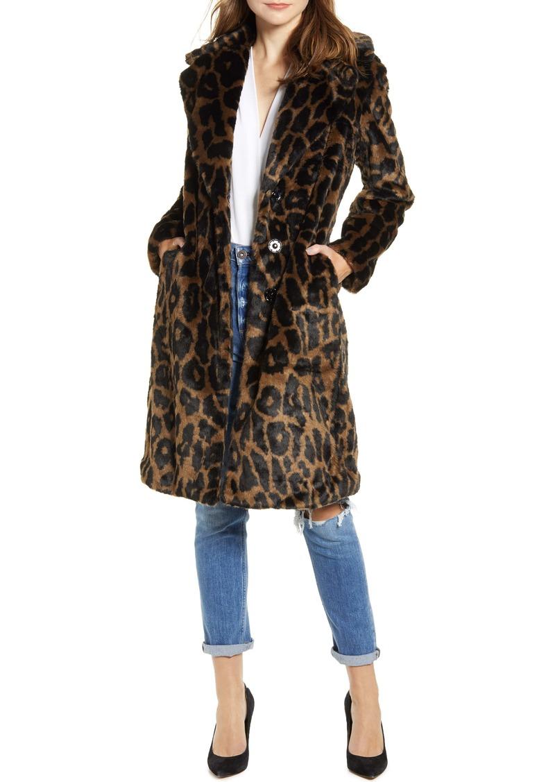 KENDALL + KYLIE Reversible Water Resistant Faux Fur Coat
