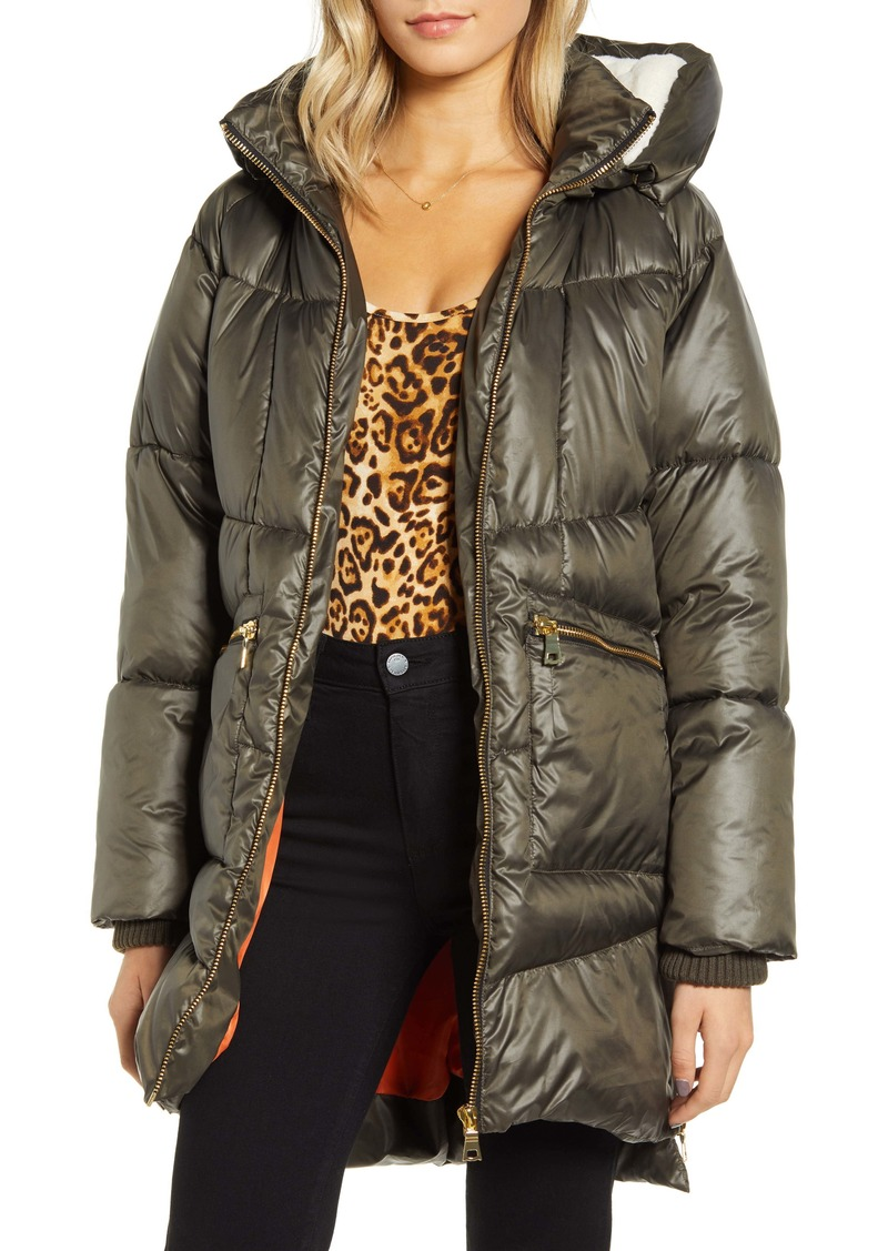 KENDALL + KYLIE Faux Fur Lined Hooded Puffer Jacket