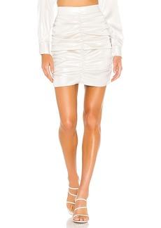 KENDALL + KYLIE Gloss Ruching Mini Skirt