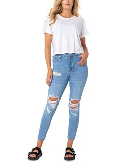 Kendall + Kylie Kontour High Rise Ripped Skinny Jeans