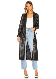 KENDALL + KYLIE Leather Duster Jacket