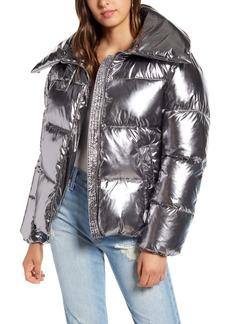 KENDALL + KYLIE Metallic Puffer Coat