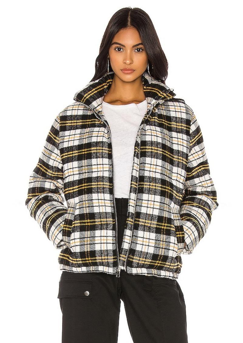 KENDALL + KYLIE Plaid Puffer Jacket