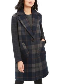 Kendall + Kylie Plaid Walker Coat