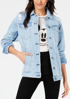 Kendall + Kylie Ripped Denim Trucker Jacket