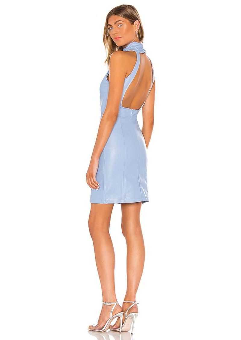 KENDALL + KYLIE Ruching Neck Backless Dress