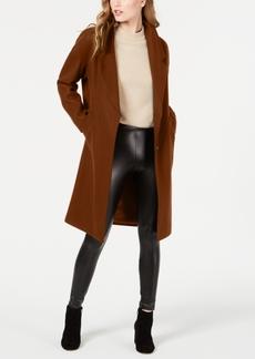 Kendall + Kylie Single Breasted Drop Shoulder Wool Coat