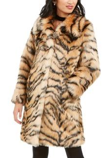 Kendall + Kylie Tiger-Print Faux-Fur Coat
