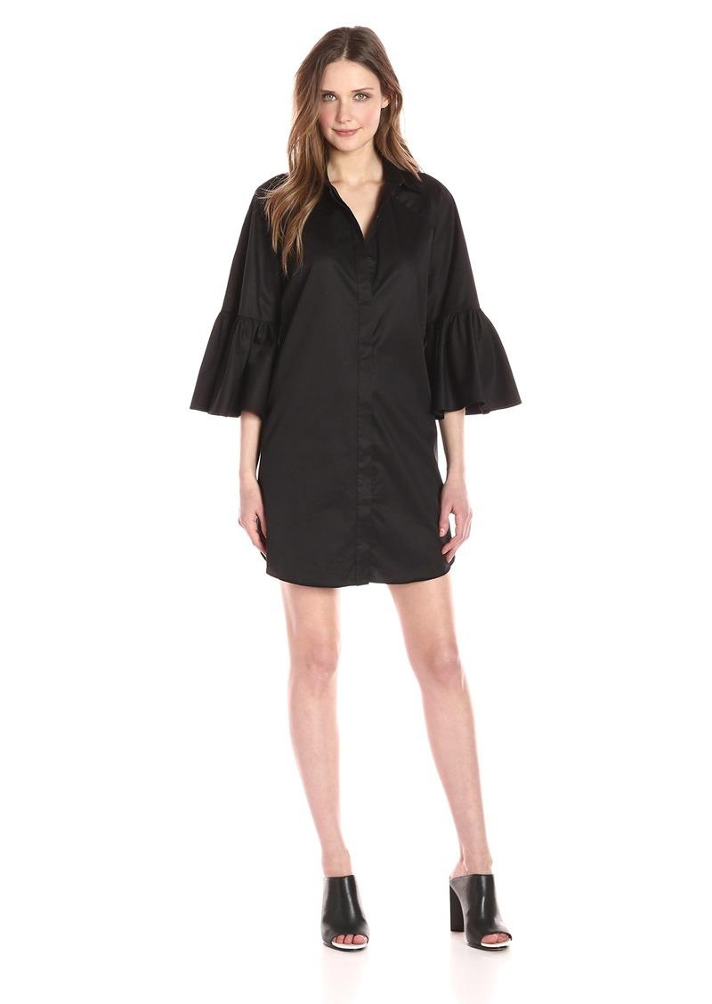 Kendall + Kylie Women's Bell Sleeve Shirt Dress  S